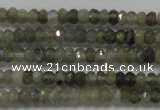 CRB118 15.5 inches 3*5mm faceted rondelle labradorite beads
