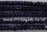 CRB121 15.5 inches 4*6mm faceted rondelle amethyst beads