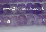 CRB1272 15.5 inches 6*10mm faceted rondelle lavender amethyst beads