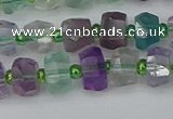 CRB1288 15.5 inches 6*10mm faceted rondelle fluorite beads