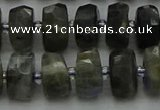 CRB1301 15.5 inches 6*10mm faceted rondelle labradorite beads