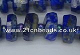 CRB1394 15.5 inches 8*16mm faceted rondelle lapis lazuli beads