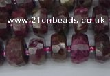 CRB1401 15.5 inches 6*10mm faceted rondelle tourmaline beads