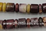CRB141 15.5 inches 6*12mm & 10*12mm rondelle mookaite jasper beads