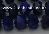 CRB1452 15.5 inches 10*14mm faceted rondelle lapis lazuli beads
