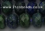 CRB1455 15.5 inches 10*14mm faceted rondelle chrysocolla beads