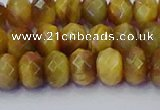 CRB1837 15.5 inches 5*8mm faceted rondelle golden tiger eye beads