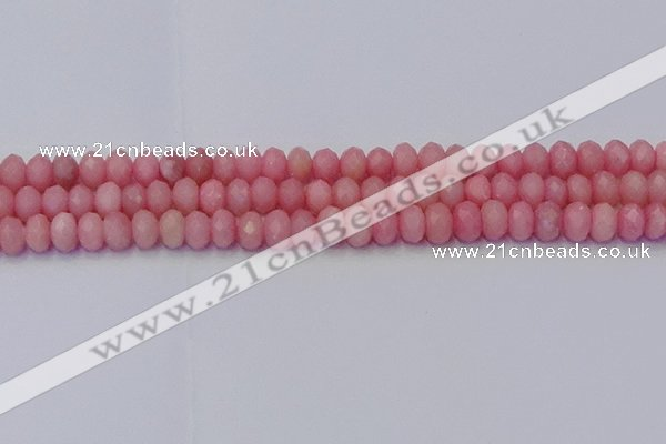 CRB1849 15.5 inches 5*8mm faceted rondelle pink opal beads