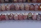 CRB1882 15.5 inches 2.5*4mm faceted rondelle rhodochrosite beads