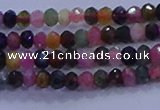 CRB1887 15.5 inches 2*3mm faceted rondelle tourmaline beads