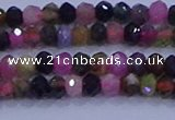 CRB1888 15.5 inches 2.5*4mm faceted rondelle tourmaline beads