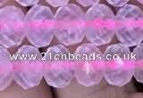 CRB1941 15.5 inches 6*8mm faceted rondelle rose quartz beads