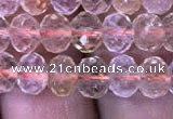 CRB1949 15.5 inches 4*6mm faceted rondelle citrine gemstone beads