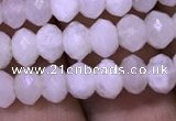 CRB1966 15.5 inches 4*6mm faceted rondelle white moonstone beads
