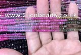CRB1971 15.5 inches 3*4mm faceted rondelle tourmaline beads