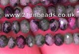 CRB1975 15.5 inches 3*4mm faceted rondelle ruby zoisite beads