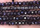 CRB1997 15.5 inches 2*3mm faceted rondelle black spinel beads