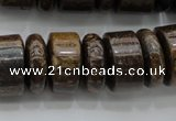 CRB200 15.5 inches 6*18mm - 13*18mm rondelle bronzite gemstone beads