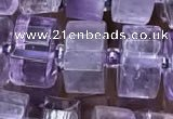 CRB2012 15.5 inches 11mm - 12mm faceted tyre light amethyst beads