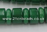CRB202 15.5 inches 6*18mm – 13*18mm rondelle green aventurine beads