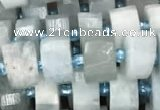 CRB2055 15.5 inches 7mm - 8mm faceted tyre aquamarine beads