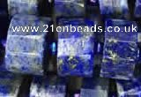 CRB2142 15.5 inches 11mm - 12mm faceted tyre lapis lazuli beads