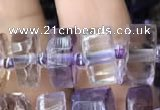CRB2155 15.5 inches 7mm - 8mm faceted tyre ametrine beads