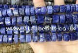 CRB2177 15.5 inches 12mm - 13mm faceted tyre sodalite beads