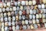 CRB2182 15.5 inches 12mm - 13mm faceted tyre crazy lace agate beads