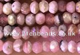 CRB2225 15.5 inches 2*3mm faceted rondelle rhodochrosite beads