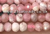 CRB2237 15.5 inches 2*3mm faceted rondelle rhodochrosite beads