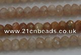 CRB224 15.5 inches 2.5*4mm faceted rondelle moonstone beads