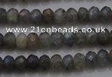 CRB225 15.5 inches 2.5*4mm faceted rondelle AB-color labradorite beads