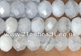 CRB2252 15.5 inches 3*4mm faceted rondelle blue lace agate beads