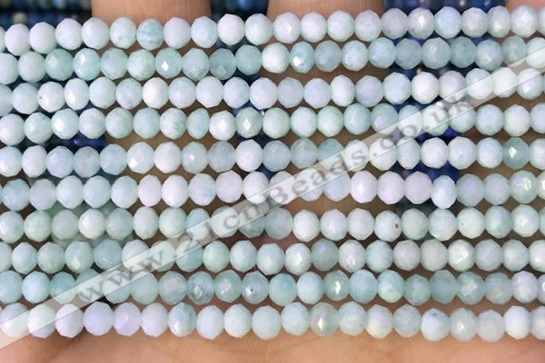 CRB2260 15.5 inches 3*4mm faceted rondelle amazonite beads