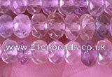CRB2280 15.5 inches 3.5*5mm faceted rondelle mixed quartz beads