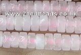 CRB2550 15.5 inches 2*4mm heishi rose quartz beads wholesale