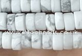 CRB2556 15.5 inches 2*4mm heishi white howlite beads wholesale