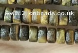 CRB2573 15.5 inches 2*4mm heishe yellow tiger eye beads wholesale