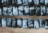 CRB2575 15.5 inches 2*4mm heishi snowflake obsidian beads wholesale