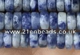 CRB2576 15.5 inches 2*4mm heishe blue spot stone beads wholesale