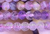 CRB2607 15.5 inches 3*4mm faceted rondelle mixed quartz beads