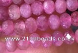 CRB2612 15.5 inches 2*3mm faceted rondelle ruby gemstone beads