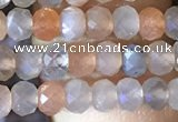 CRB2621 15.5 inches 3*4mm faceted rondelle moonstone beads