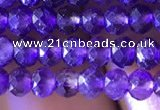 CRB2631 15.5 inches 3*4mm faceted rondelle amethyst beads