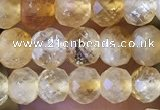 CRB2633 15.5 inches 4*5mm faceted rondelle citrine gemstone beads