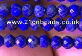 CRB2646 15.5 inches 2*3mm faceted rondelle lapis lazuli beads