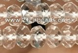CRB2670 15.5 inches 4*6mm faceted rondelle white crystal beads