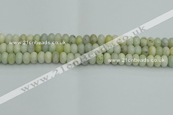 CRB2827 15.5 inches 6*10mm rondelle jade beads wholesale