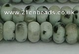 CRB2852 15.5 inches 6*10mm rondelle sesame jasper beads